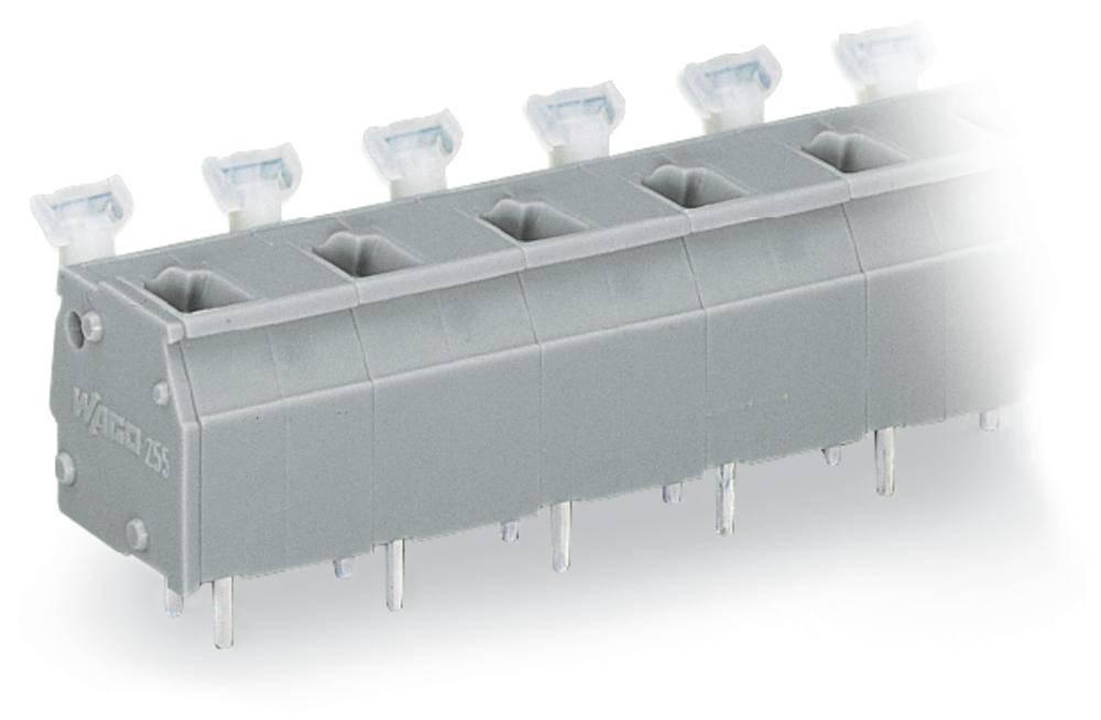 Fjederkraftsklemmeblok WAGO 2.50 mm² Poltal 6 Grå 60 stk