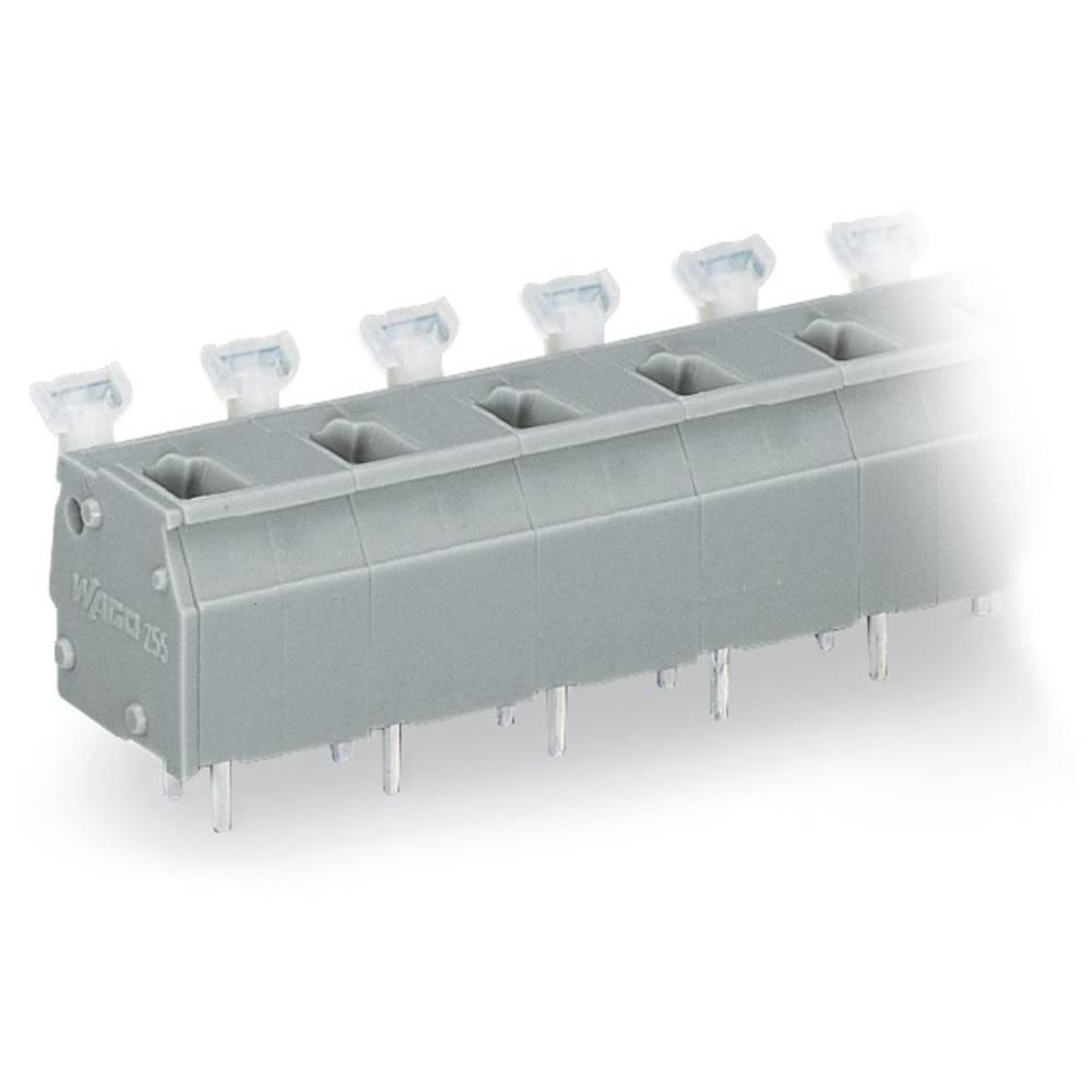 Fjederkraftsklemmeblok WAGO 2.50 mm² Poltal 4 Grå 100 stk