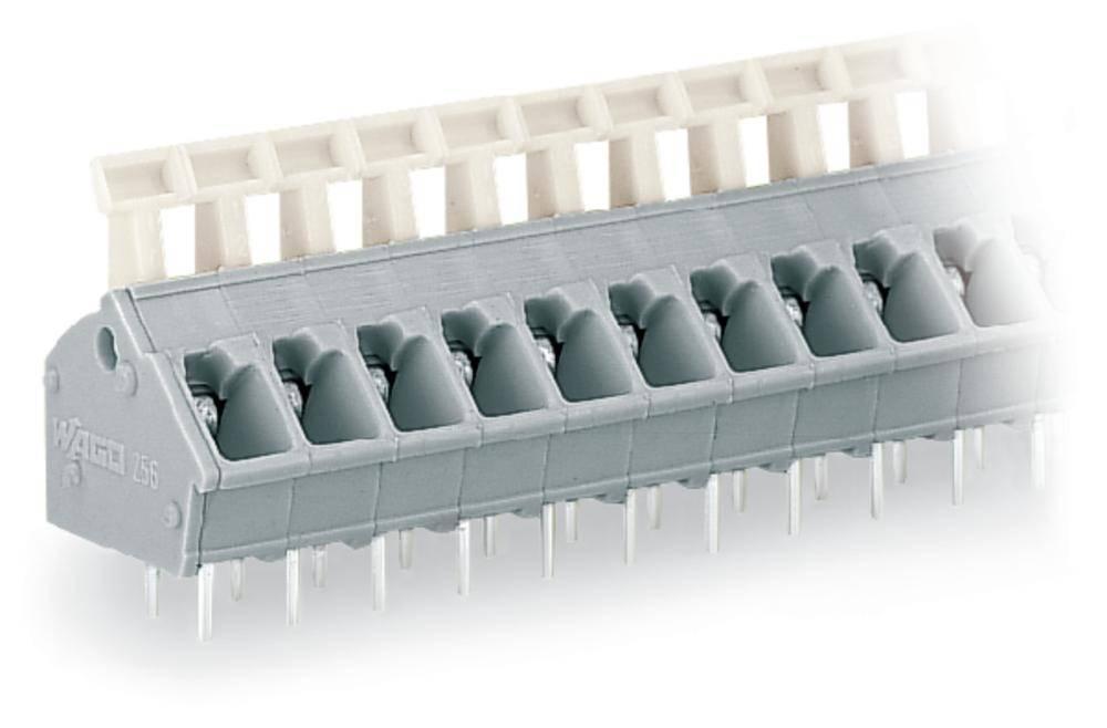 Fjederkraftsklemmeblok WAGO 2.50 mm² Poltal 8 Lysegrå 100 stk