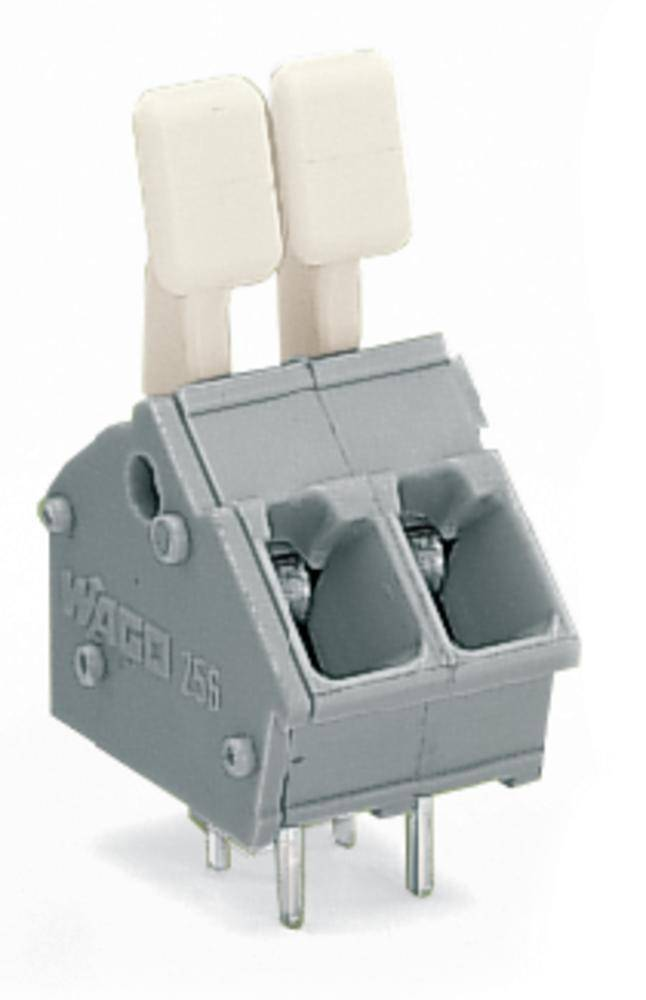 Fjederkraftsklemmeblok WAGO 2.50 mm² Poltal 2 Lysegrå 400 stk