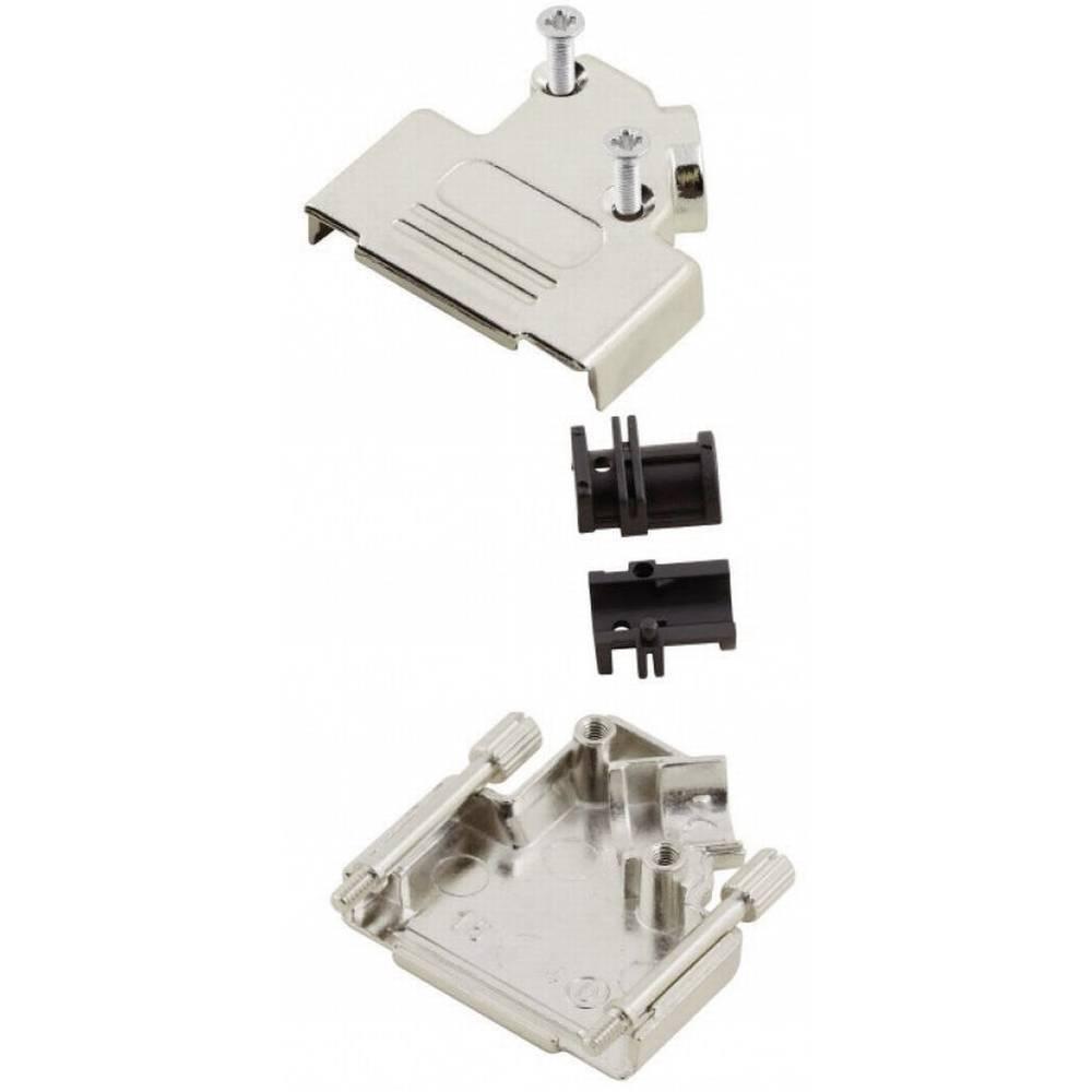 D-SUB popolnoma kovinski pokrov Encitech MHD45ZK-15-RA-K, poli: 15, vsebina: 1 kos 6560-0106-12 MH Connectors