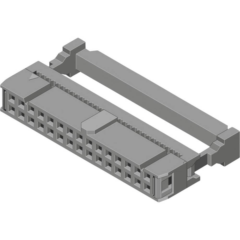 Stiftliste med trækaflastning Rastermål: 2.54 mm Samlet antal poler: 10 MPE Garry 540 stk