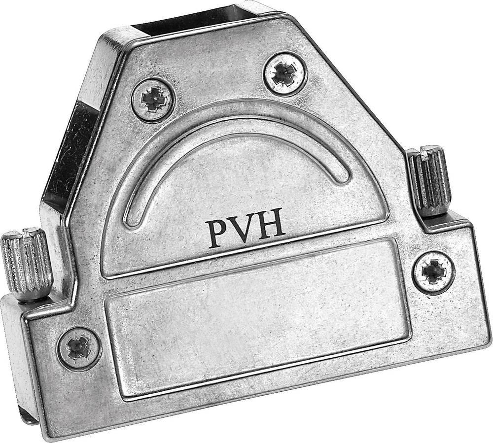D-SUB popolnoma kovinski pokrov Provertha 1715DC25001, navojno zapiralo, poli: 15, komplet