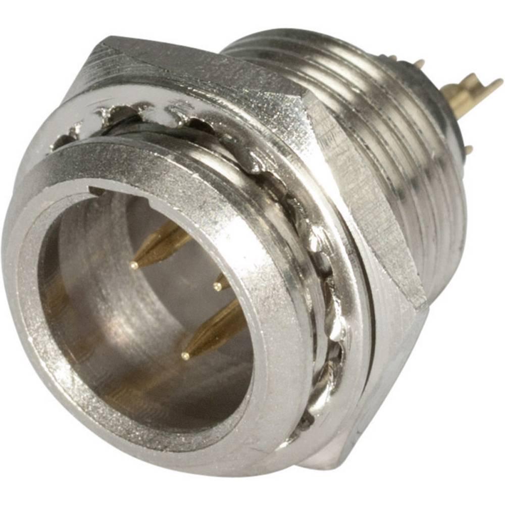 Mini-XLR Vgradni vtični konektor, kovinsko ohišje, ponikljan, št. polov: 3 HI-XMEM3 Hico.. Hicon