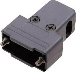 D-SUB-kabinet MH Connectors MHTRI-P-09-K Poltal 9 180 °, 45 °, 45 ° Plastic, metalliseret Sort 1 stk