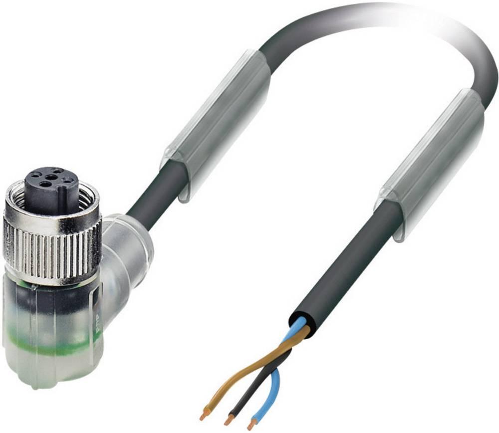 Sensor-, aktuator-stik, Phoenix Contact SAC-3P-10,0-PUR/M12FR-2L Poltal: 3 med LED 1 stk