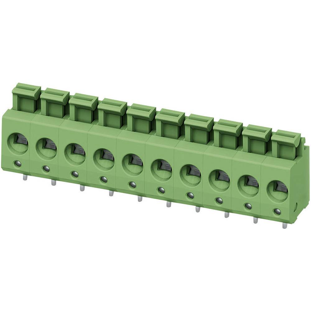 Fjederkraftsklemmeblok Phoenix Contact PTS 1,5/ 2-5,0-H 2.50 mm² Poltal 2 Grøn 1 stk