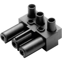Strømstik Serie (netstik) AC Tilslutning, vinklet Samlet poltal: 2 + PE 16 A Sort Adels-Contact AC 166 GBU/ 3 1 stk