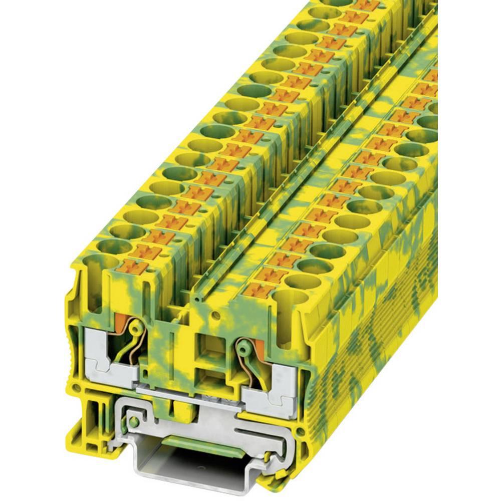 Push-in beskyttelsesleder terminal PT-PE Phoenix Contact PT 6-PE Grøn-gul 1 stk