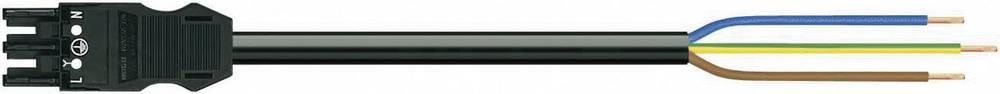 Strømforsyningstilslutningskabel WAGO Samlet poltal 2 + PE Sort 3 m 1 stk
