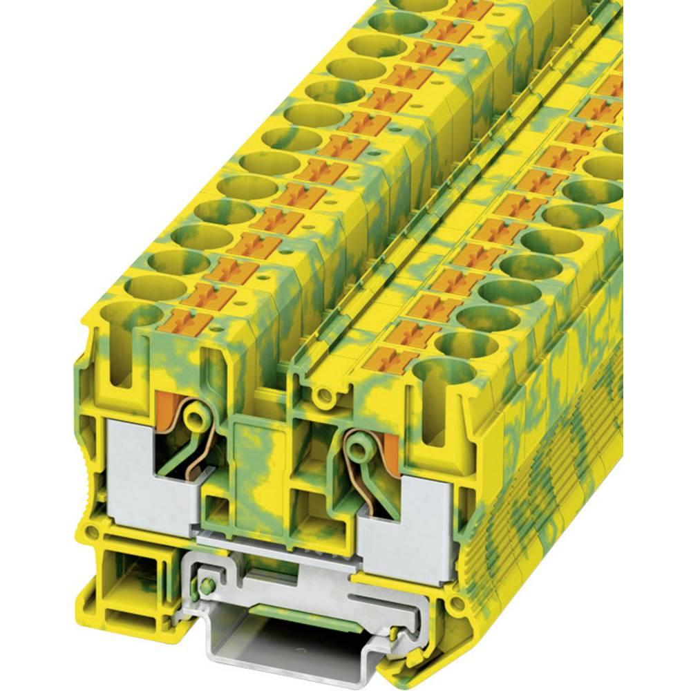 Push-in beskyttelsesleder terminal PT-PE Phoenix Contact PT 10-PE Grøn-gul 1 stk