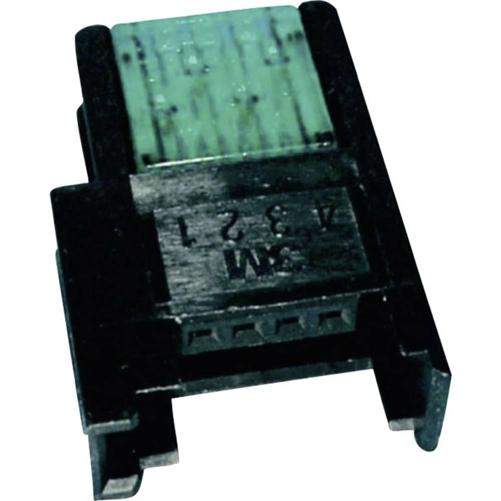 Spojka za šibki tok, prilagodljiva: 0.33-0.52 mm, togost: 0.33-0.52 mm, št. polov: 4, 3M 37304-2124-000 FL, 1 kos, zelene barve