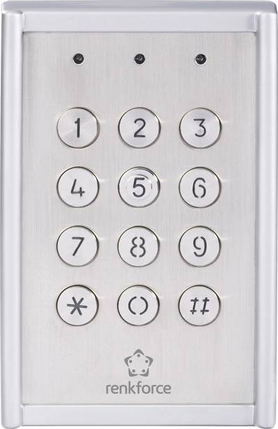 Renkforce 751624 Code lock Surface-mount IP65 + backlit keypad