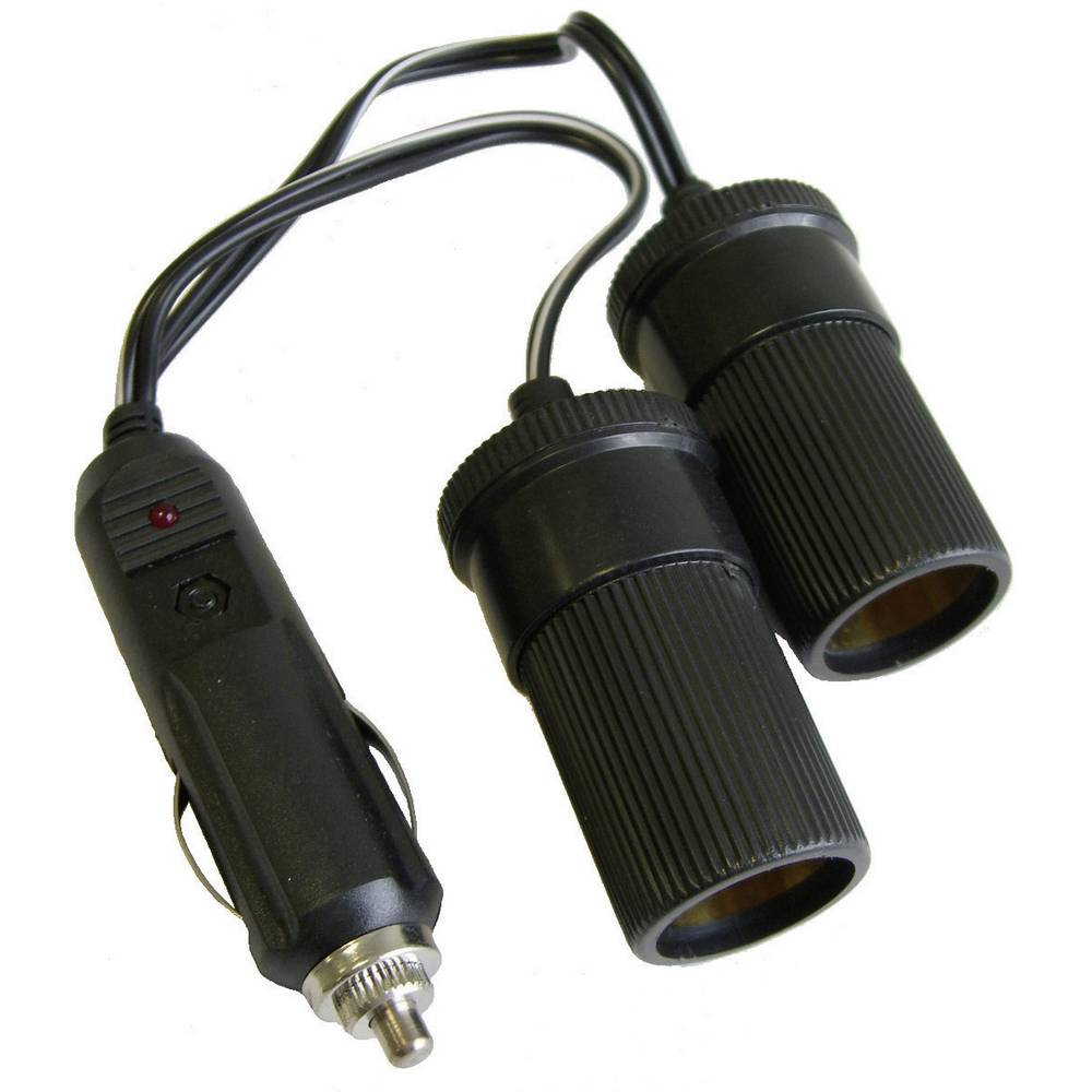 Dobbeltfordeler HP Autozubehör 2-fach Verteiler 12V 12 V, 24 V 10 A Cigarettænder-stik