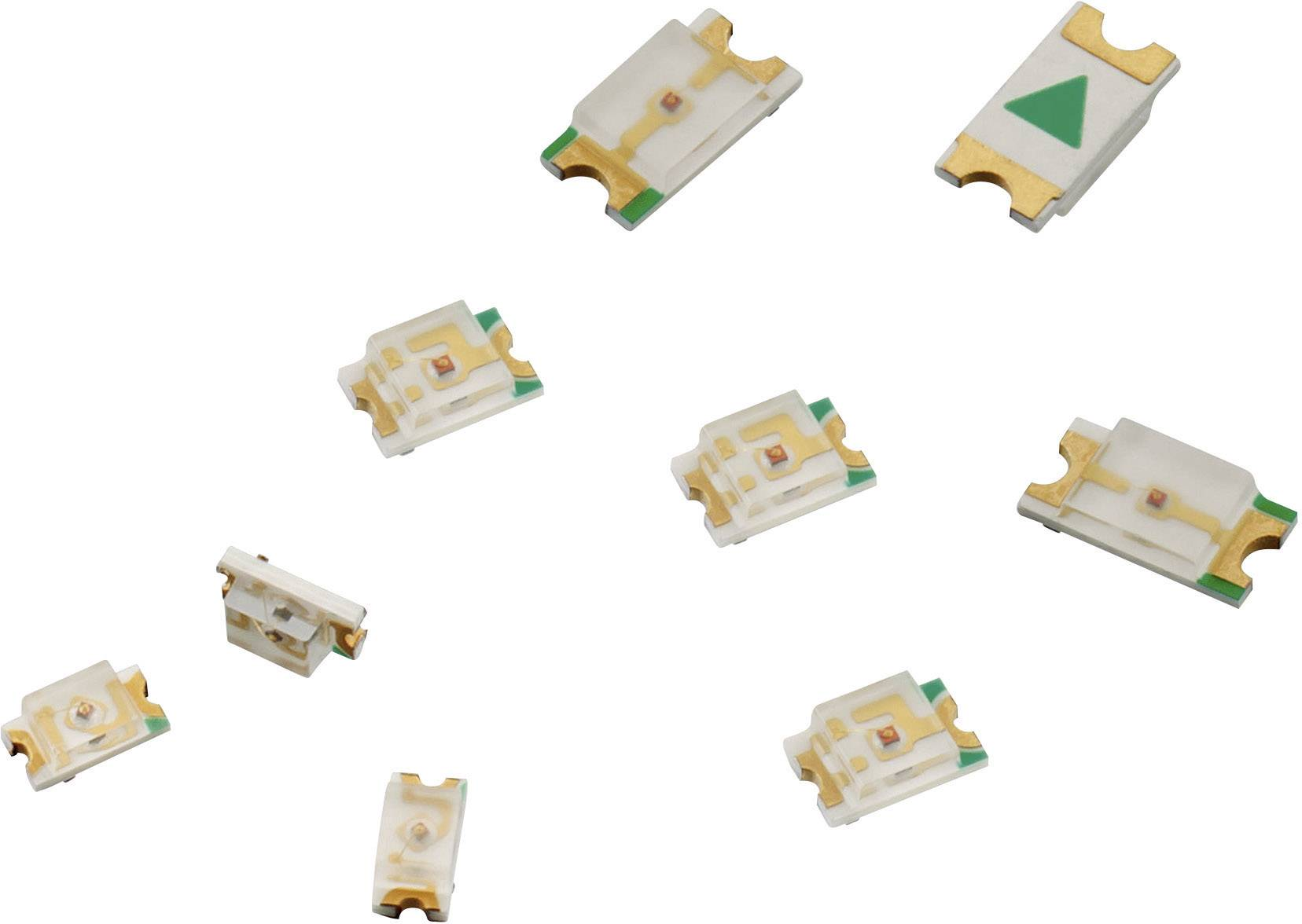 10 x Yellow 0805 SMD Chip LED