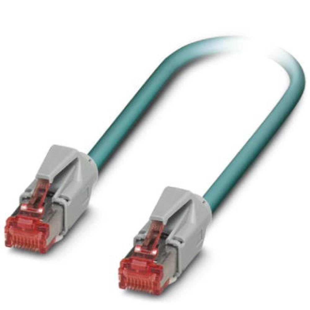RJ45 omrežni priključni kabel CAT 5, CAT 5e SF/UTP [1x RJ45-vtič - 1x RJ45-vtič] 3 m moder Phoenix Contact