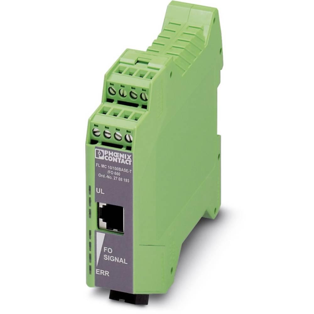 Pretvornik za optiko Phoenix Contact FL MC 10/100BASE-T/FO-660 Pretvornik za optiko