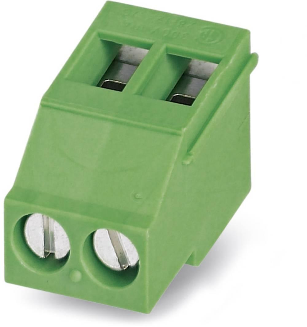 Skrueklemmeblok Phoenix Contact MKDSF 3/ 2 2.50 mm² Poltal 2 Grøn 50 stk