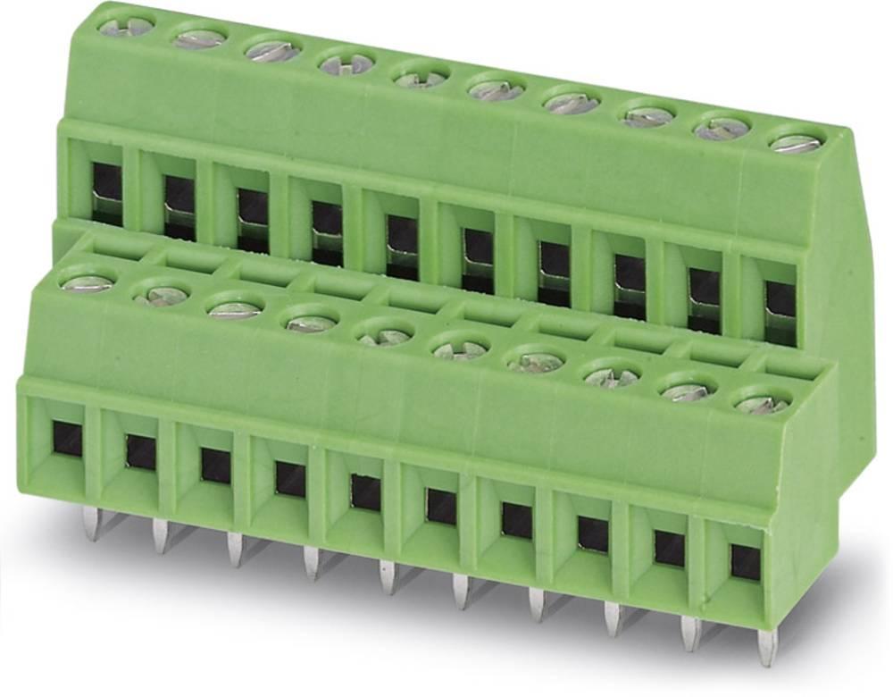 Dobbeltrækkeklemme Phoenix Contact MKKDS 1/ 9-3,81 1.00 mm² Poltal 18 Grøn 50 stk