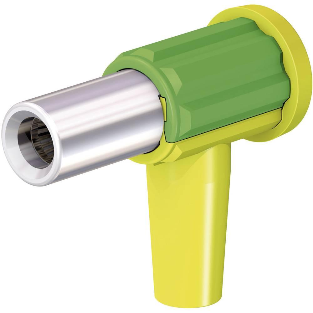 Laboratorietilslutning Tilslutning, vinklet Stäubli POAG-KBT6-EC/4 Grøn-gul 1 stk