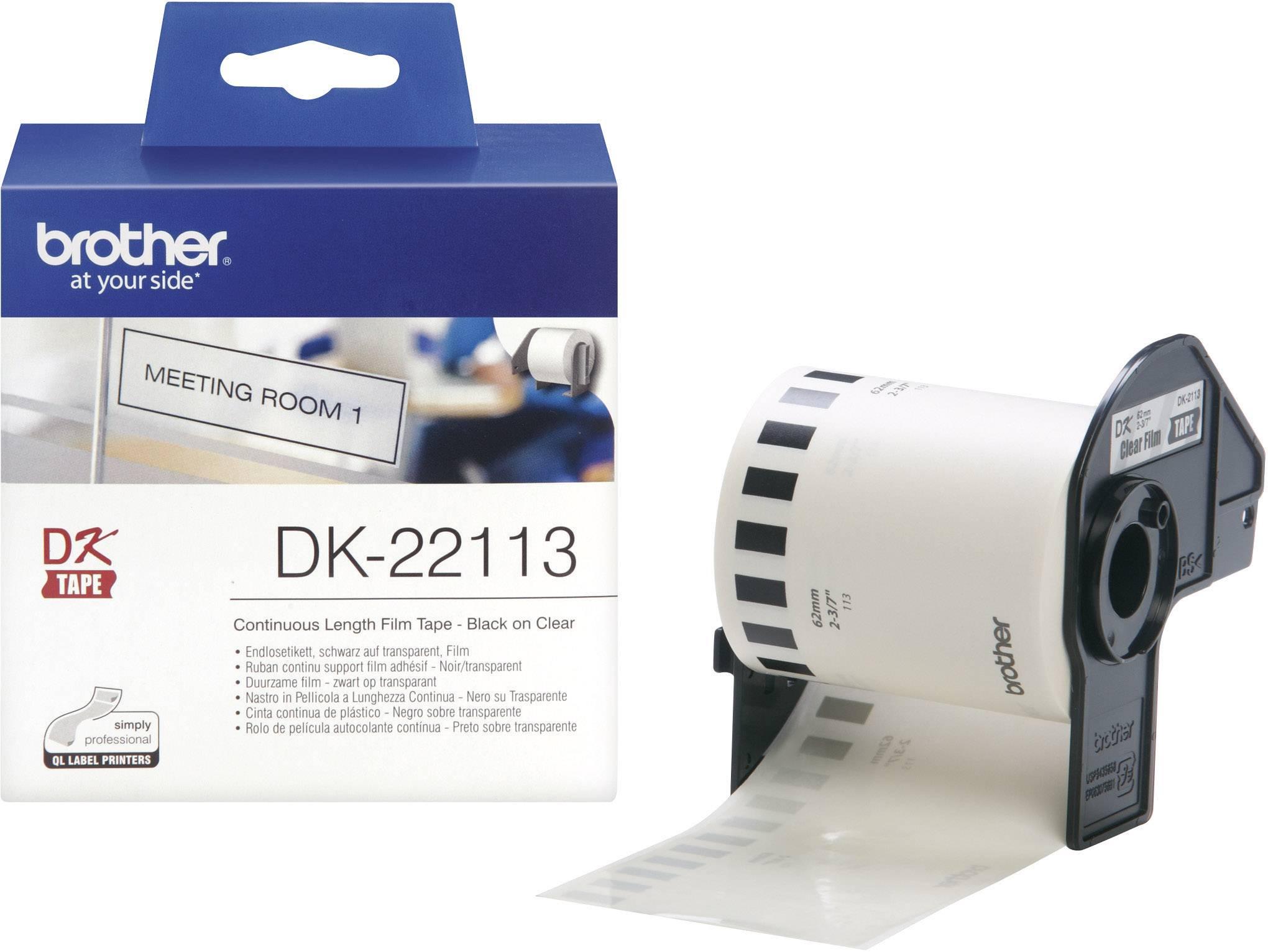 """62mmx15.24m 2-3//7/"""" continue rouleau transparent étiquette pour brother DK-22113 ql"""