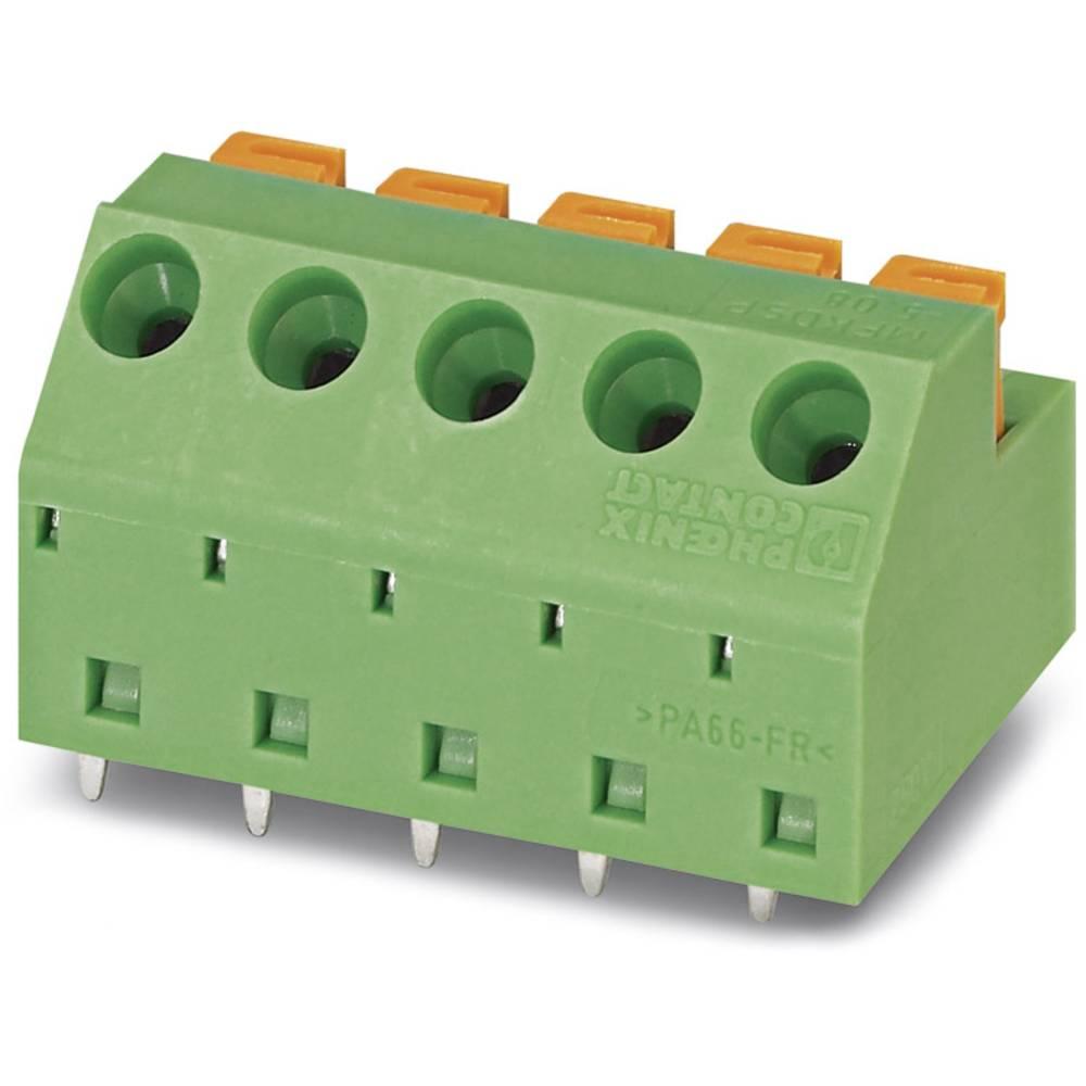 Fjederkraftsklemmeblok Phoenix Contact MFKDSP/ 6-5,08 1.00 mm² Poltal 6 Grøn 50 stk
