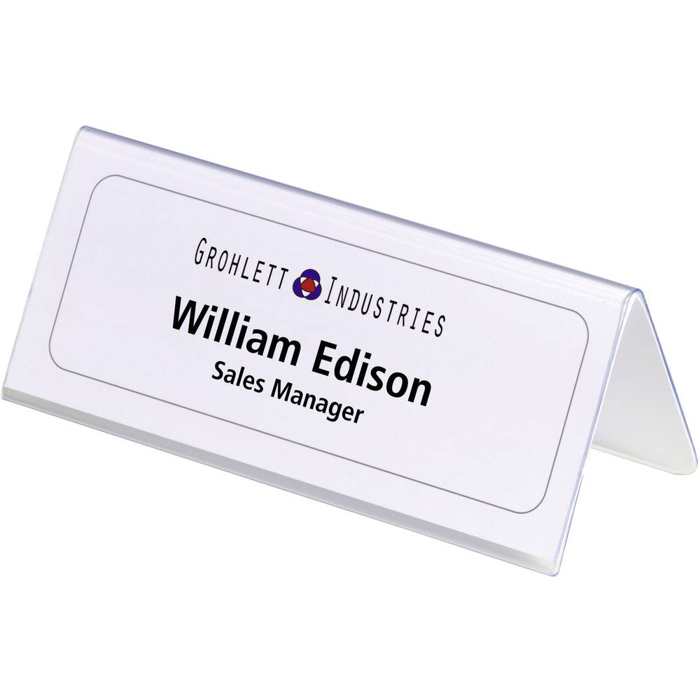 durable 8050 19 desk name plate paper size 150 x 61 122 mm w x h