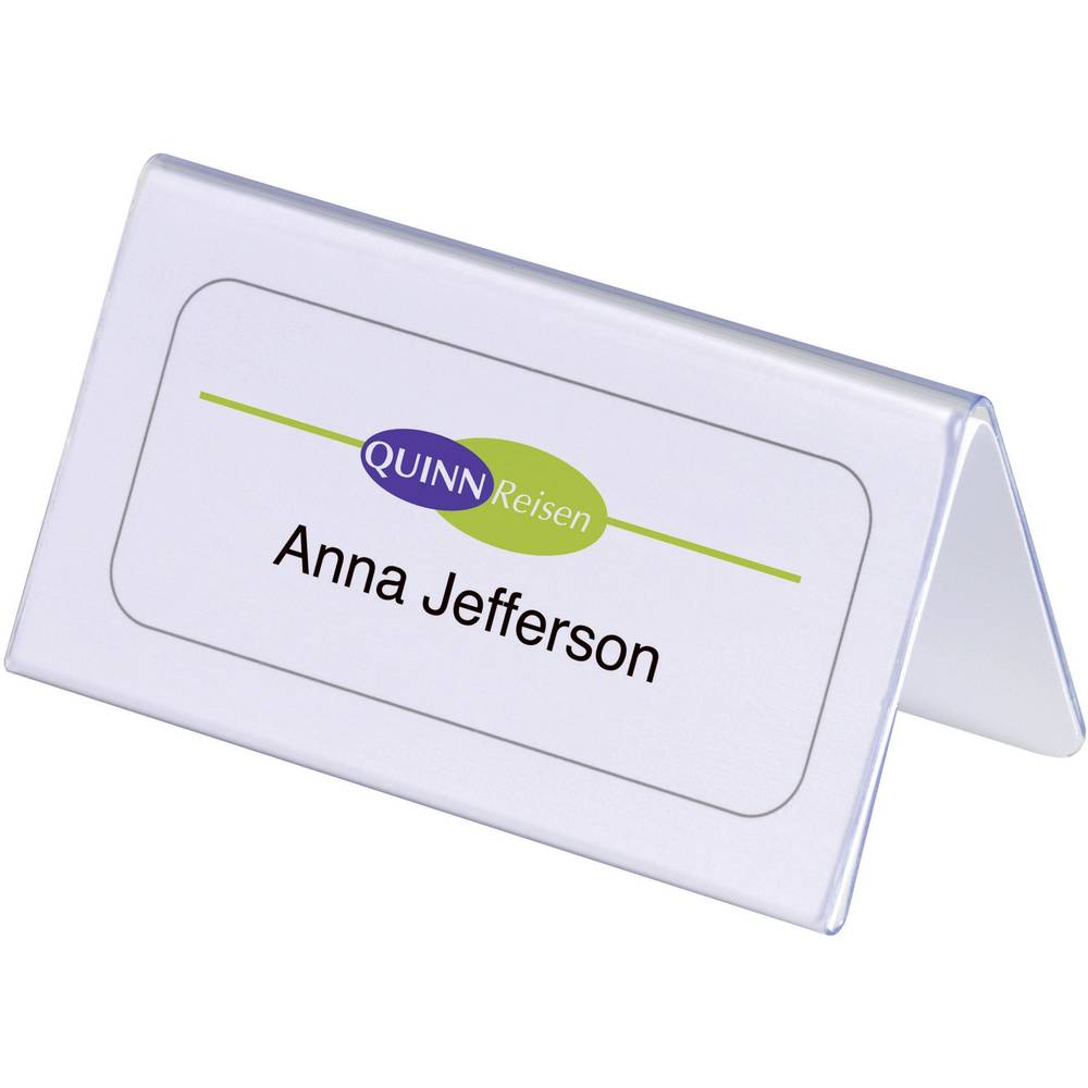 durable 8051 19 desk name plate paper size 100 x 52 104 mm w x h