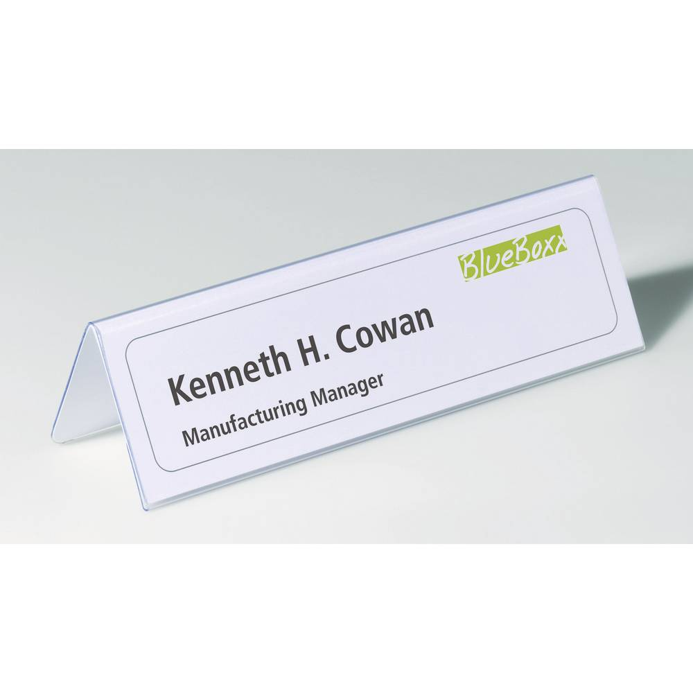 durable 8052 19 desk name plate paper size 210 x 61 122 mm w x h