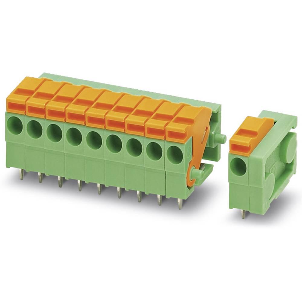 Fjederkraftsklemmeblok Phoenix Contact FFKDSA1/H-3,81- 7 1.00 mm² Poltal 7 Grøn 50 stk