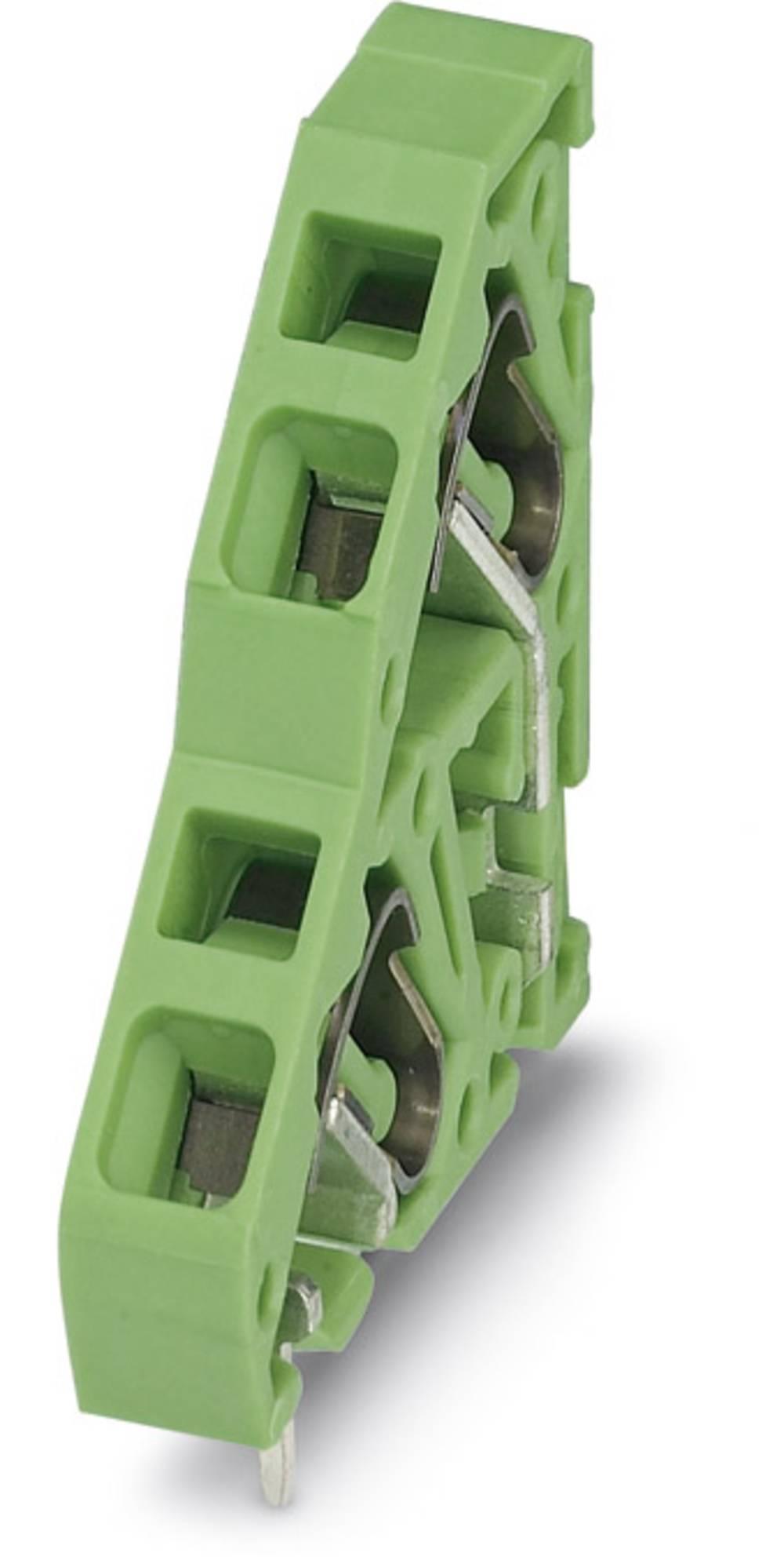 Dobbeltrækkeklemme Phoenix Contact ZFKKDS 2,5-5,08 L 2.50 mm² Poltal 2 Grøn 50 stk