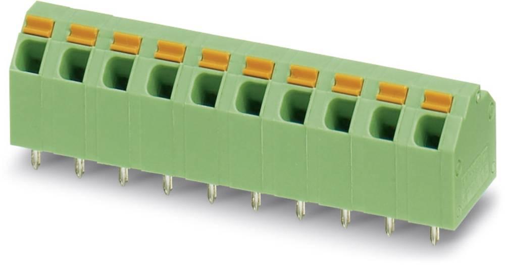 Fjederkraftsklemmeblok Phoenix Contact SPTA 1,5/10-5,08 1.50 mm² Poltal 10 Grøn 50 stk