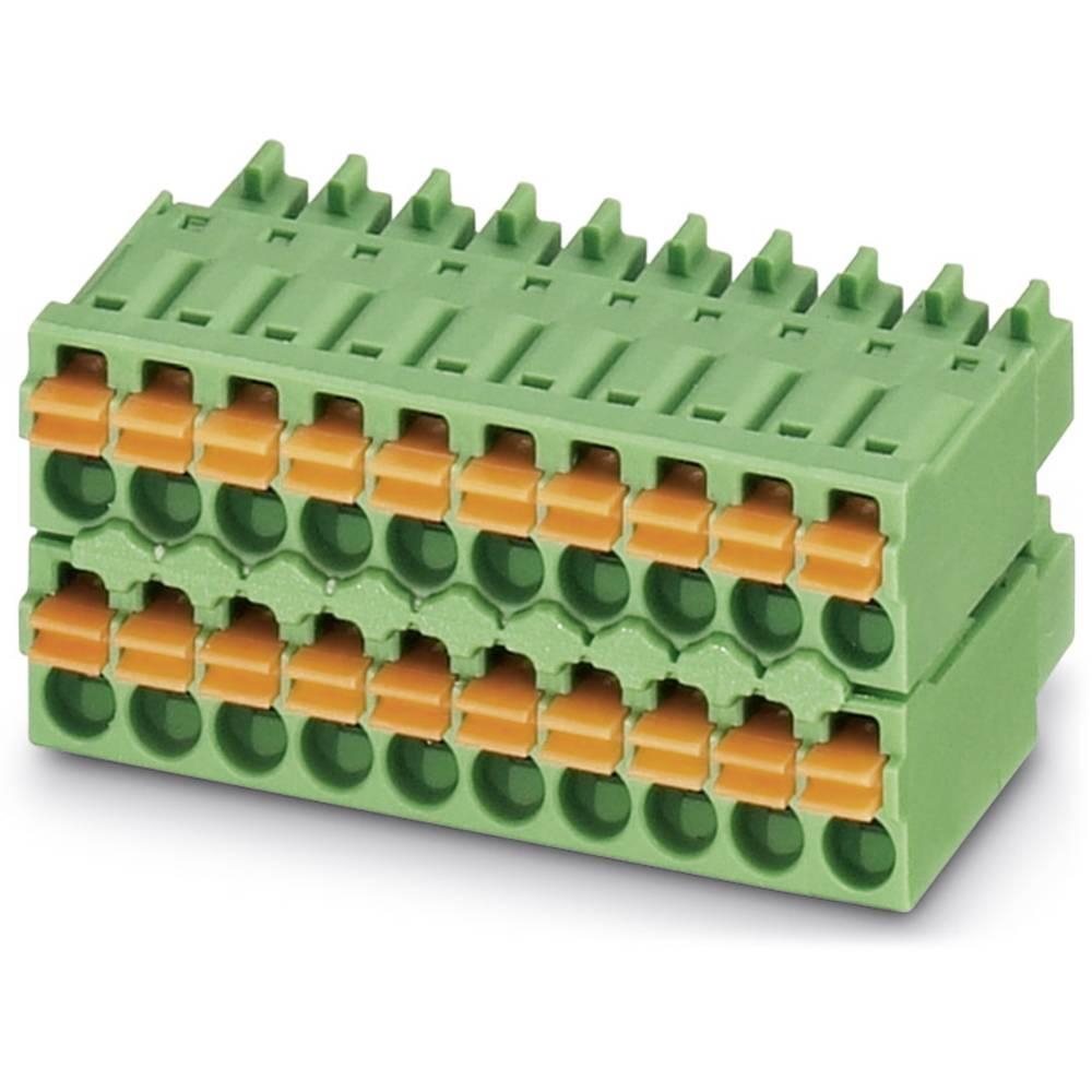 Tilslutningskabinet-kabel MVSTBR Samlet antal poler 10 Phoenix Contact 1740916 Rastermål: 5.08 mm 50 stk