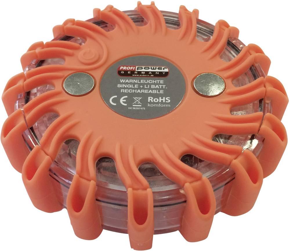 Opozorilna utripajoča luč Profi Power, Li-Ion akumulator, 600 mAh, 12/24/230 V, polnilna 2420003