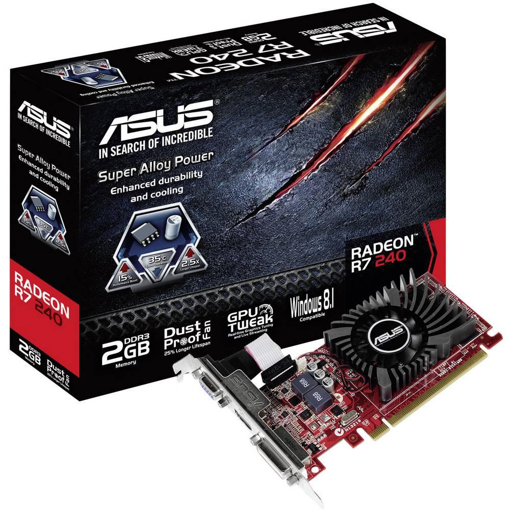 Asus Gpu Amd Radeon R7 240 2 Gb Ddr3 Ram Pcie X16 Dvi Vga Hdmi Pc Smart 2gb
