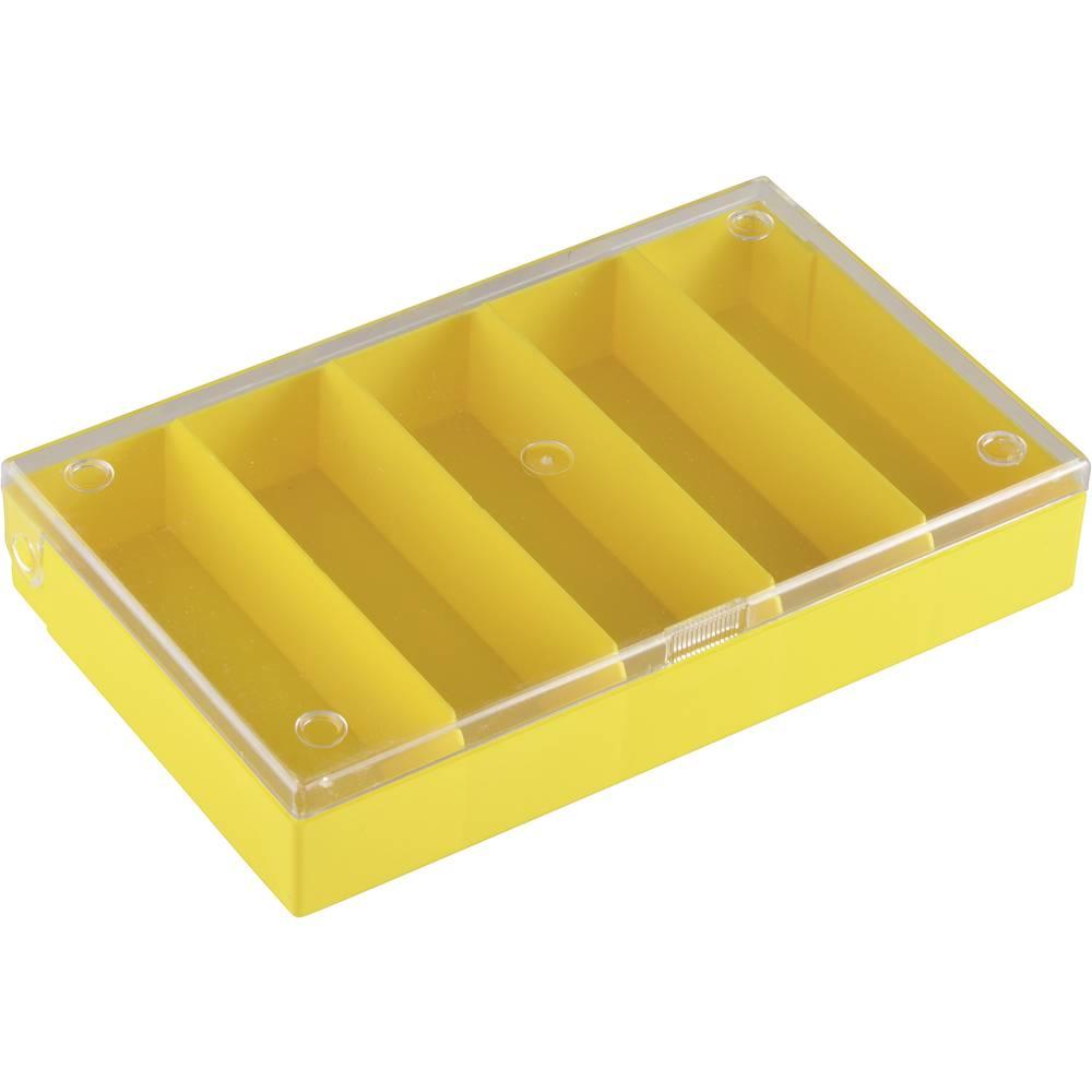 Sortirna škatla (D x Š x V) 164 x 31 x 101 mm št. predalov: 5 fiksna pregraditev