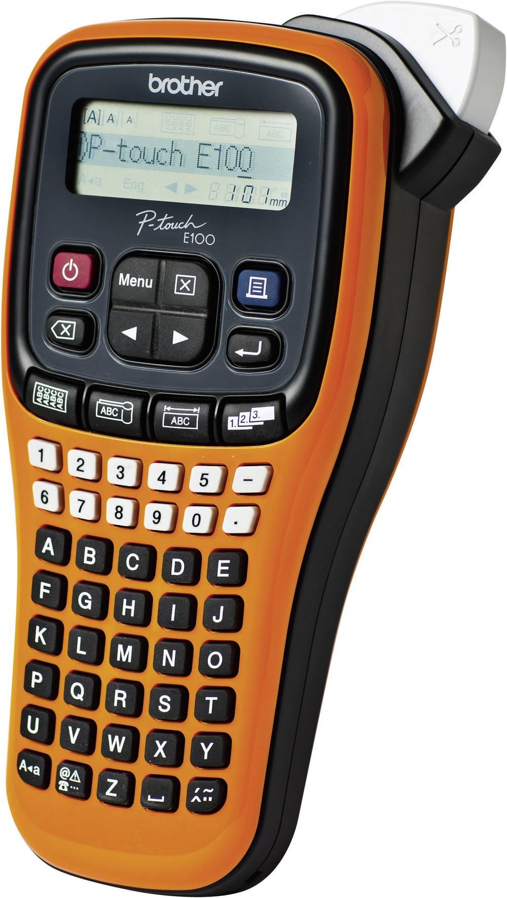 Uređaj za izradu oznaka Brother P-touch E100 za oznake veličine: TZ 3.5 mm, 6 mm, 9 mm, 12 mm PTE100G1