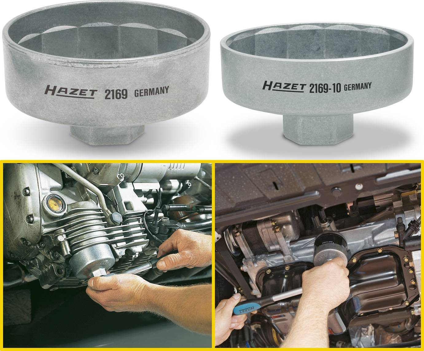 Hazet 2169-36 10mm// 3//8-inch Oil Filter Wrench
