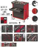 Workshop trolley VIGOR 700 with 7 drawers and set in a 2K-soft foam inserts 302 pcs.