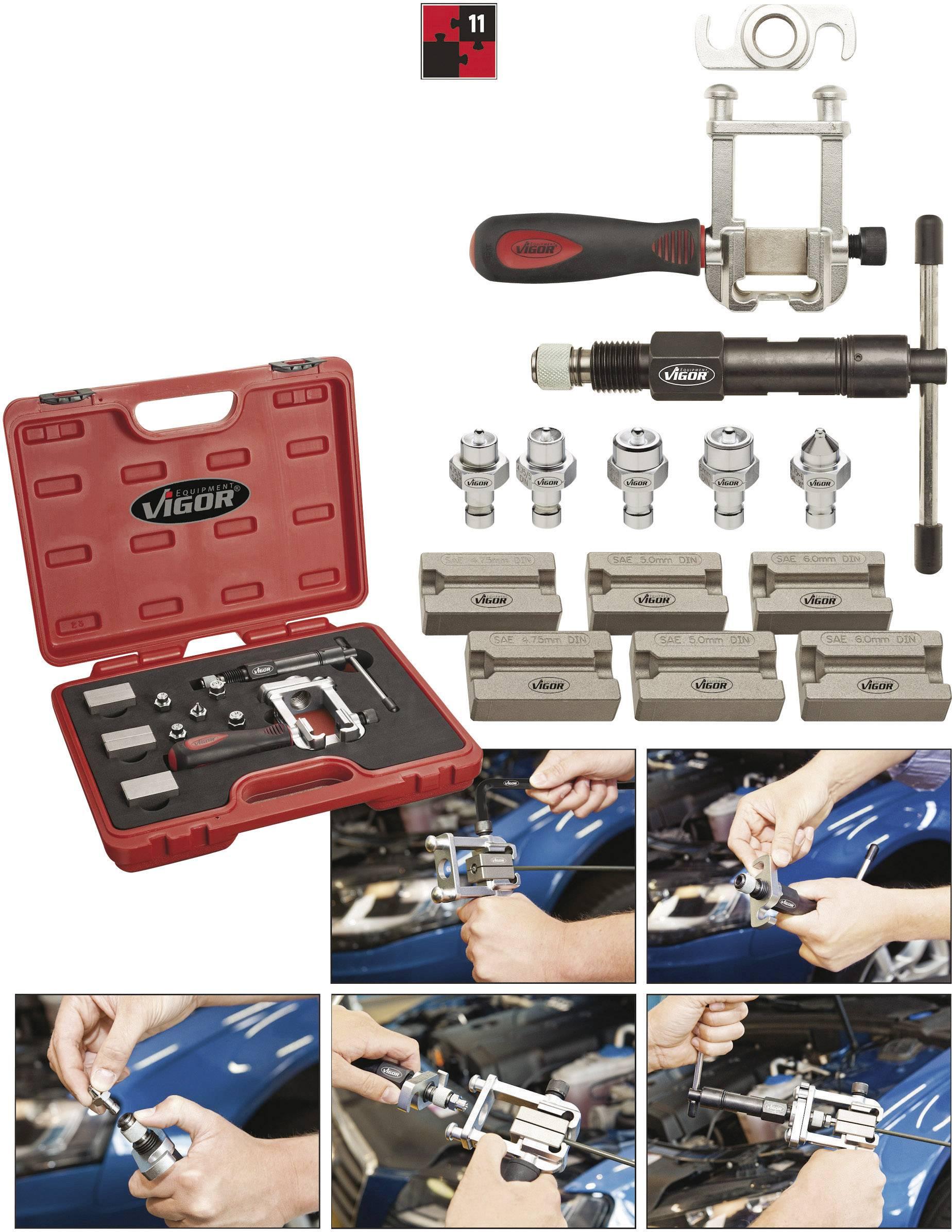 Vigor Brake line flare tool set 11pcs  V1728 | Conrad com