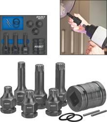Udvendig sekskant, Multitand (XZN) Kraft-topnøgleindsats-sæt Hazet 990S/11 1/2 (12,5 mm) 11 dele