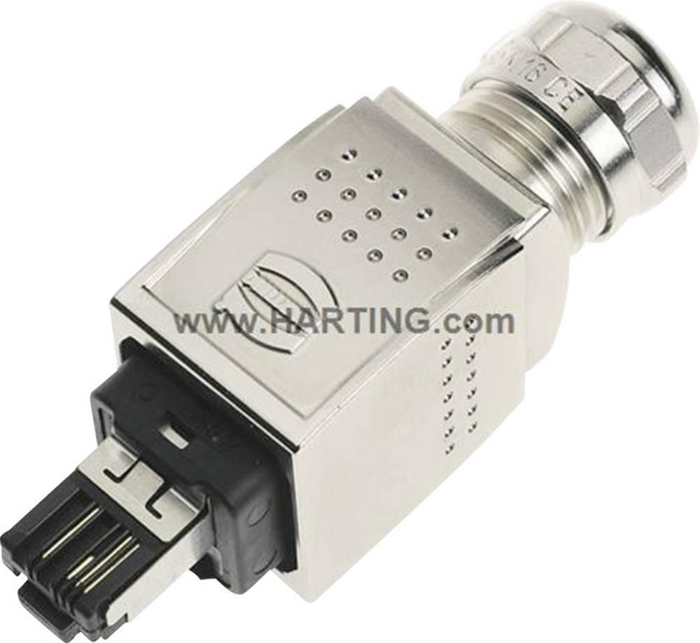 Han® PushPull RJ45-vtični konektor za vtič, raven, polov:4 09 35 226 0401 Harting 09 35 226 0401 1 kos