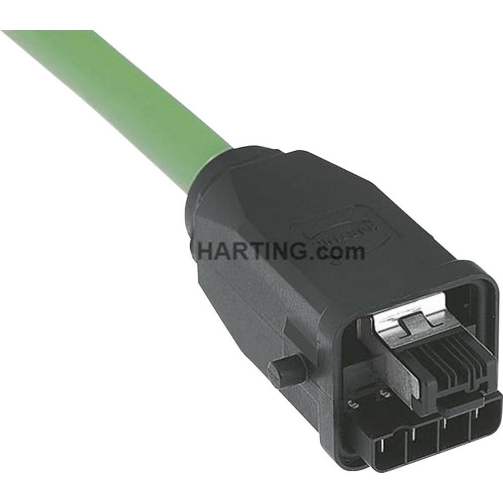Han® 3 A RJ45 Hybrid vtični konektor za vtič, raven, polov:4 + 4 Han® 3 A RJ45 Hybrid sive barve Harting 09 45 125 1300