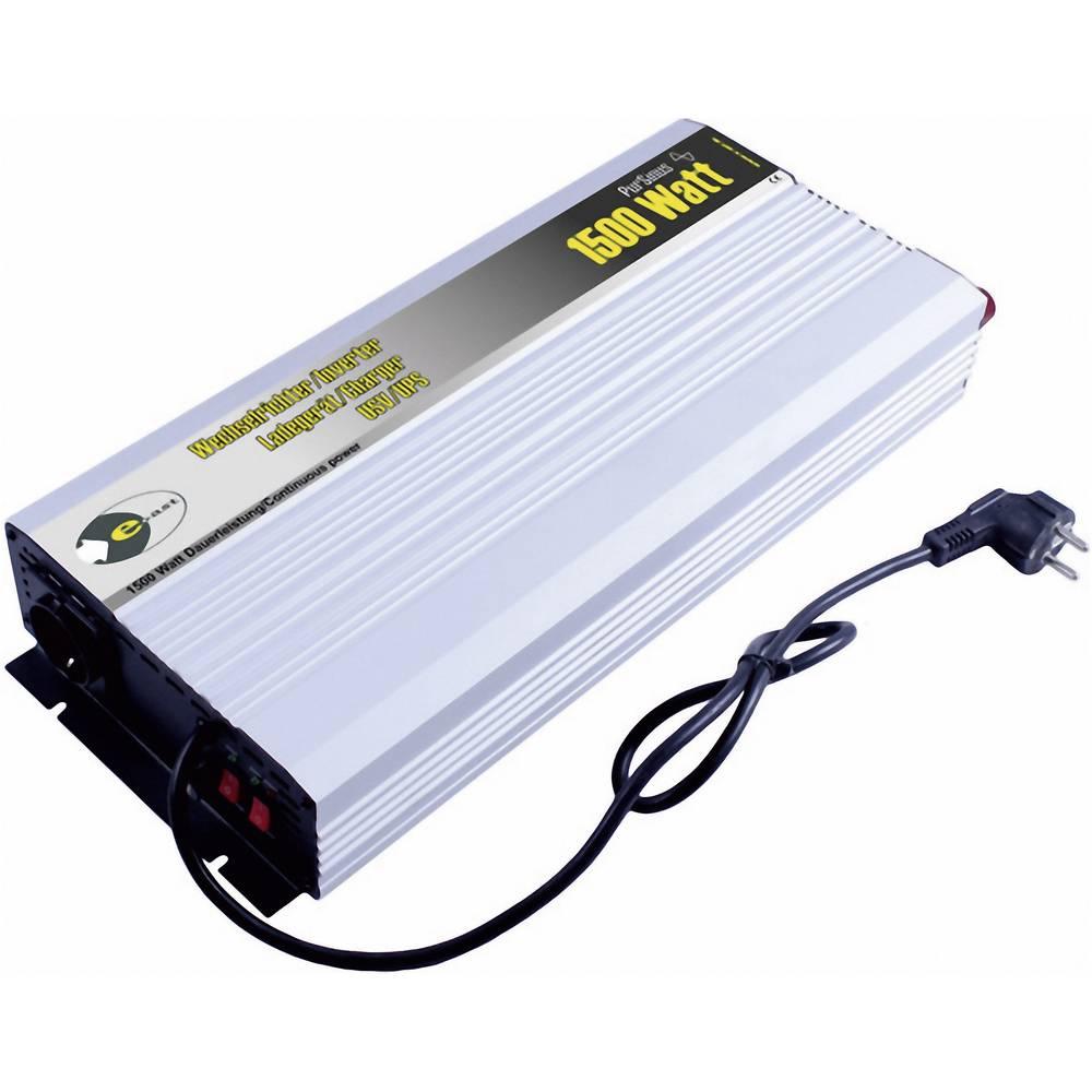 Inverter e-ast HPLSC1500-12-S-USV 1500 W 12 V/DC, 230 V/AC 12 V/DC; 230 V/AC USV-funktion Skrueklemmer Jordstik