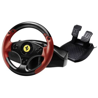 Thrustmaster Ferrari® Red Legend Edition Steering wheel USB PlayStation 3, PC Black, Red incl. foot pedals