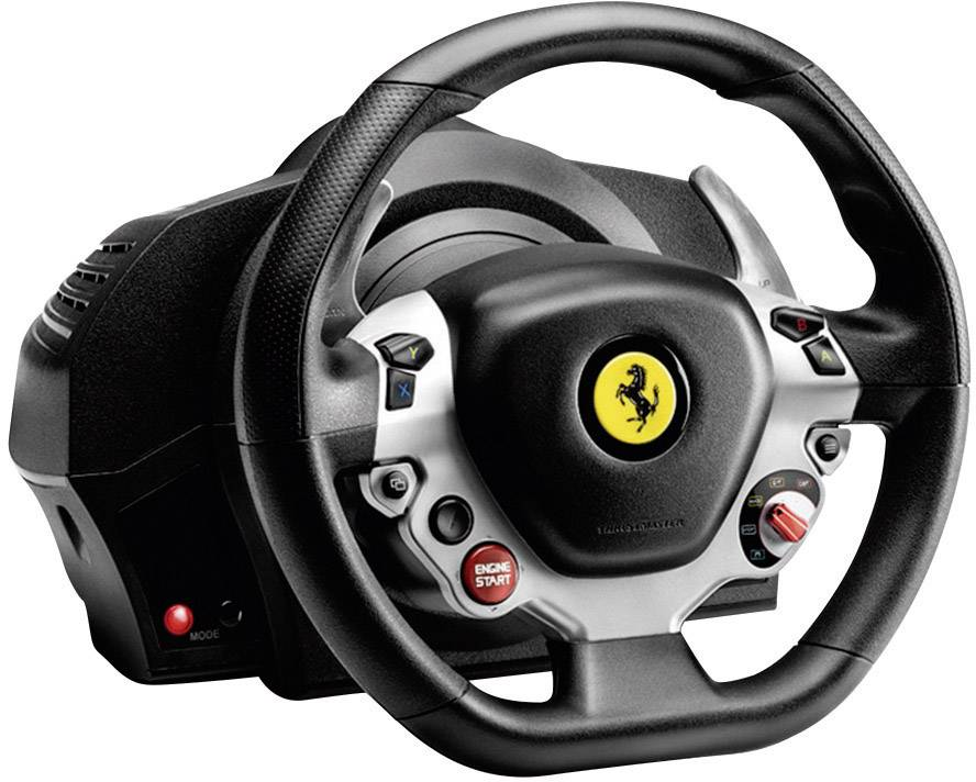 Thrustmaster Ferrari 458 Italia Edition Steering Wheel Usb Xbox One Black Silver Incl Foot Pedals Conrad Com