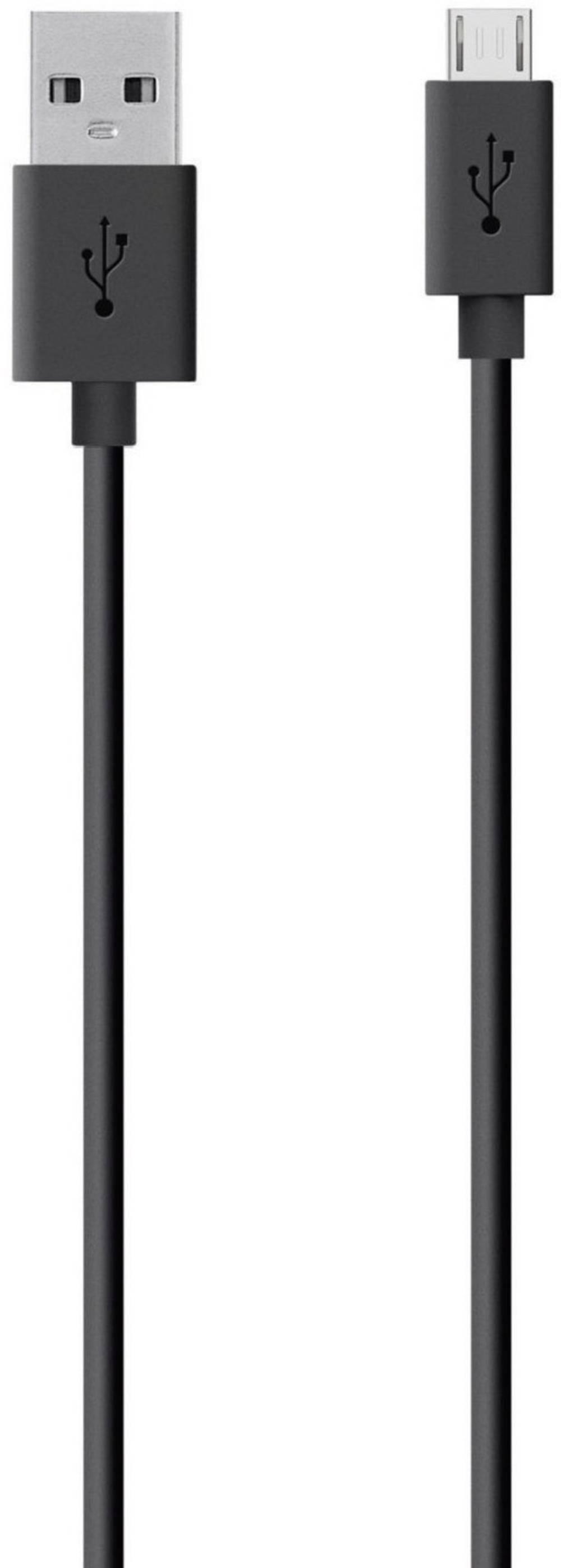 USB 2.0 priključni kabel [1x USB 2.0 - 1x USB 2.0 Micro-B ] 2 m črn Belkin F2CU012bt2M-BLK