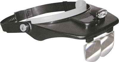 Headband magnifier incl. LED lighting Magnification: 1.2 x, 1.8 x, 2.5 x, 3.5 x
