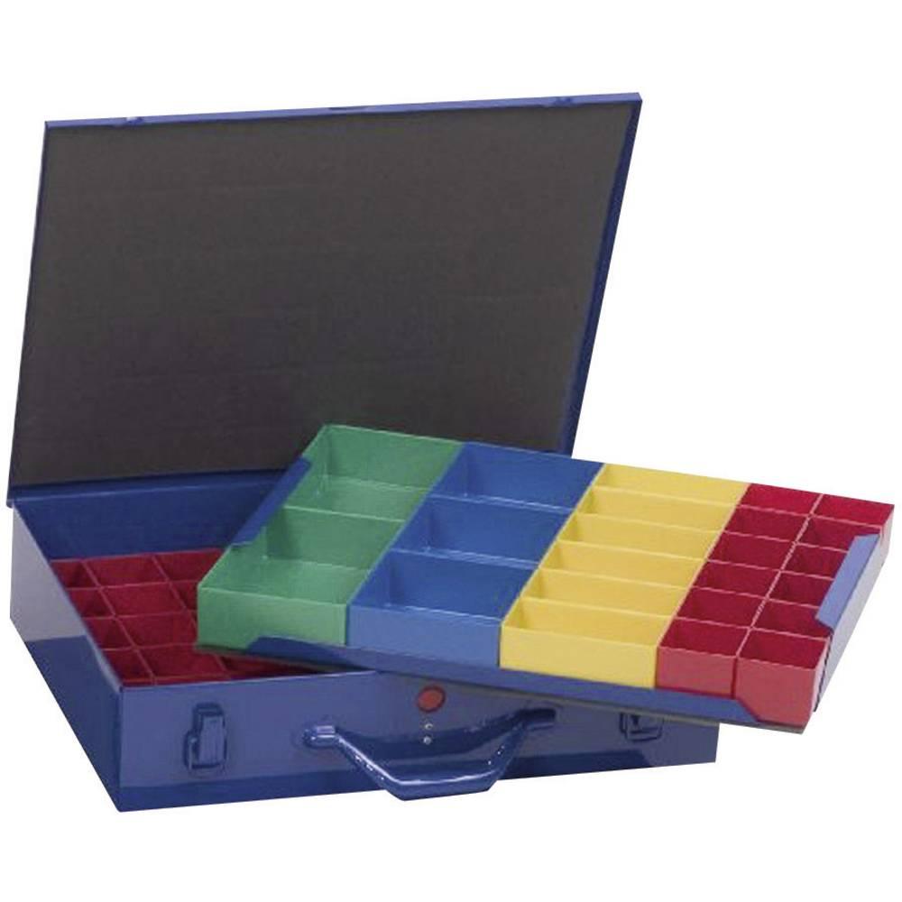 Sortirni kovček (D x Š x V) 440 x 100 x 300 mm Alutec št. predalov: 59 nastavljivo pregrajevanje