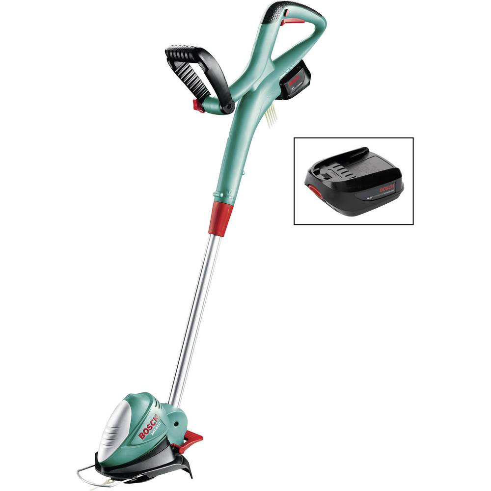 bosch art 23 li cordless grass trimmer with 2 batteries from conrad